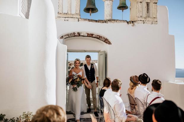 Fun & modern destination wedding in Greece