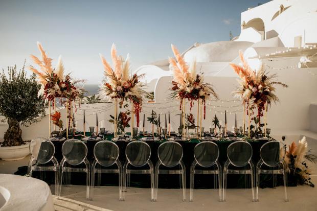 Modern -bohemian & moody wedding reception