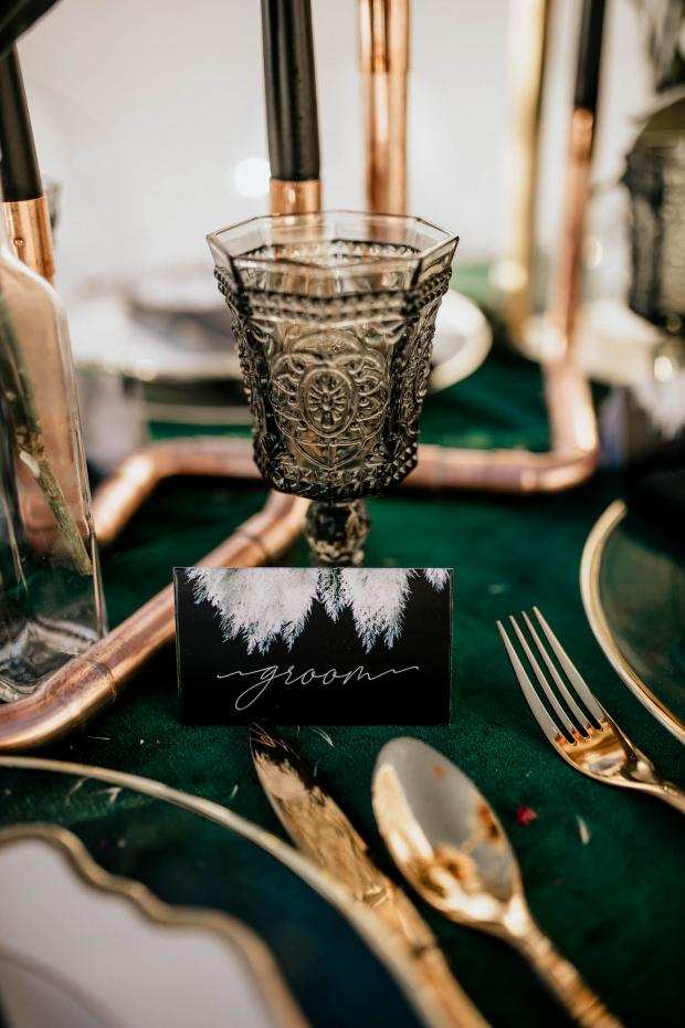 wedding stationery-pampas name tag