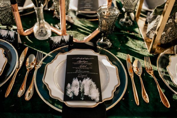 Wedding stationery- pampas wedding menu