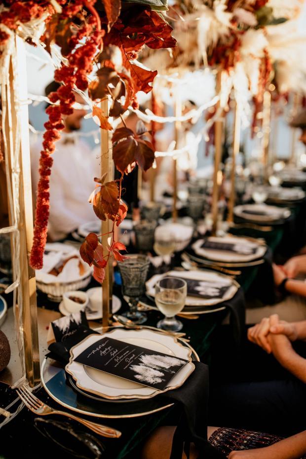 Wedding stationery- pampas menu