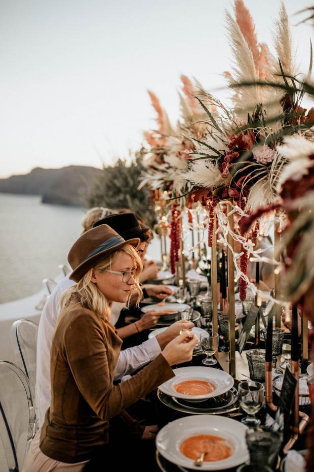 Hip destination wedding in Greece