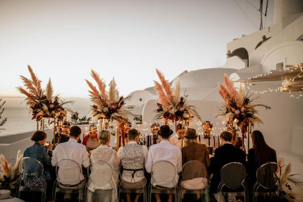 Modern hip wedding in Greece