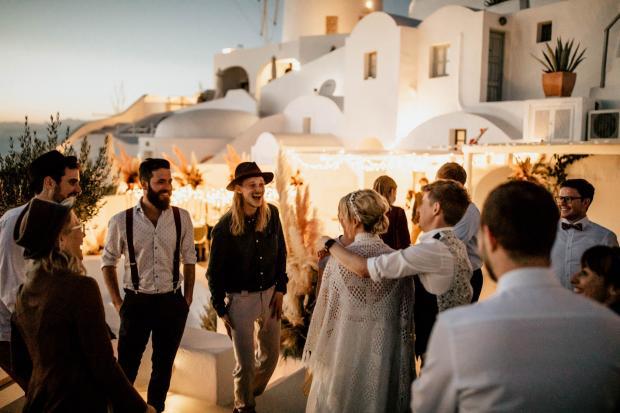 Hip wedding in Greece