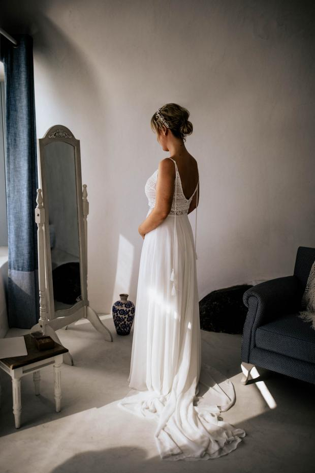 bridal preparations - wedding dress