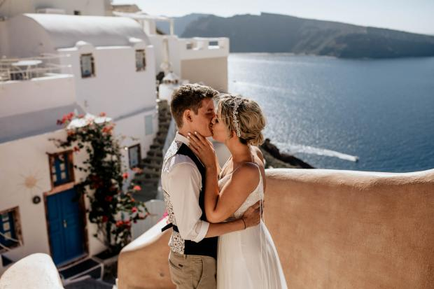 First look - wedding in Greece