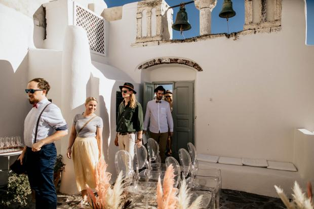 Fun & modern destination wedding in Greece