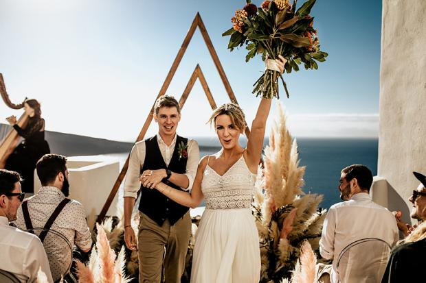 Modern & fun wedding in Greece