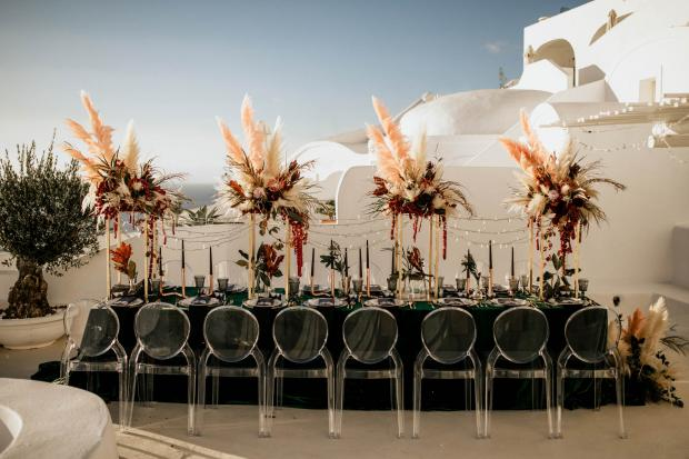 Modern -bohemian & moody wedding reception