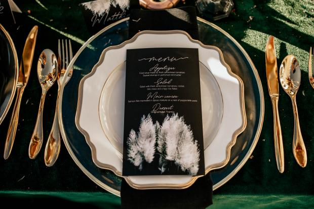 Wedding stationery- pampas wedding menu