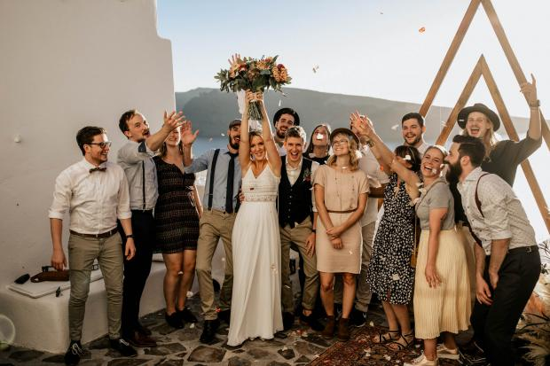 Fun & modern wedding in Greece