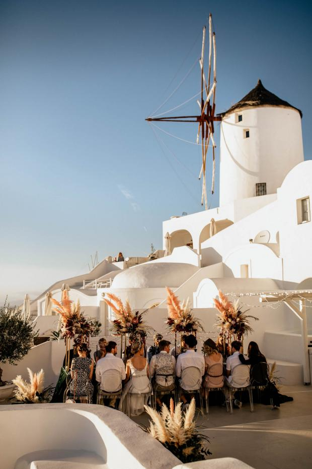 Hip destination wedding in Greece