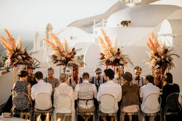 Modern destination wedding in Greece