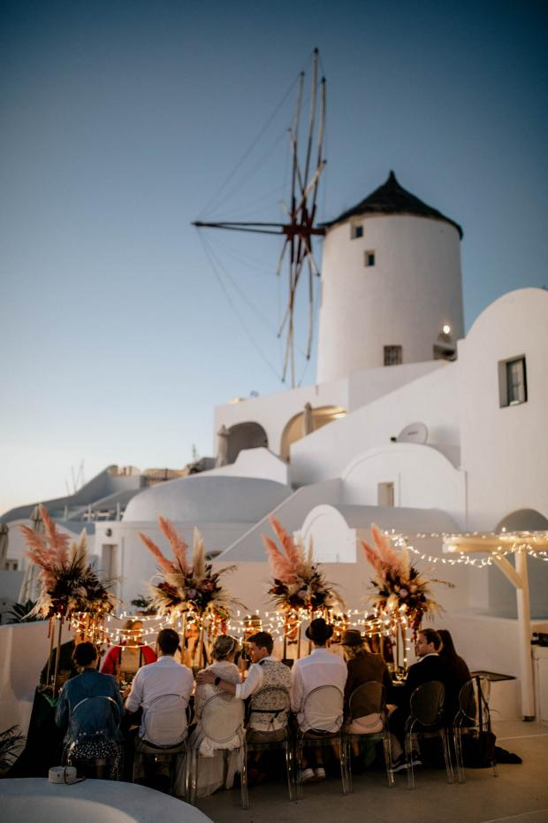 Modern hip wedding in Greece