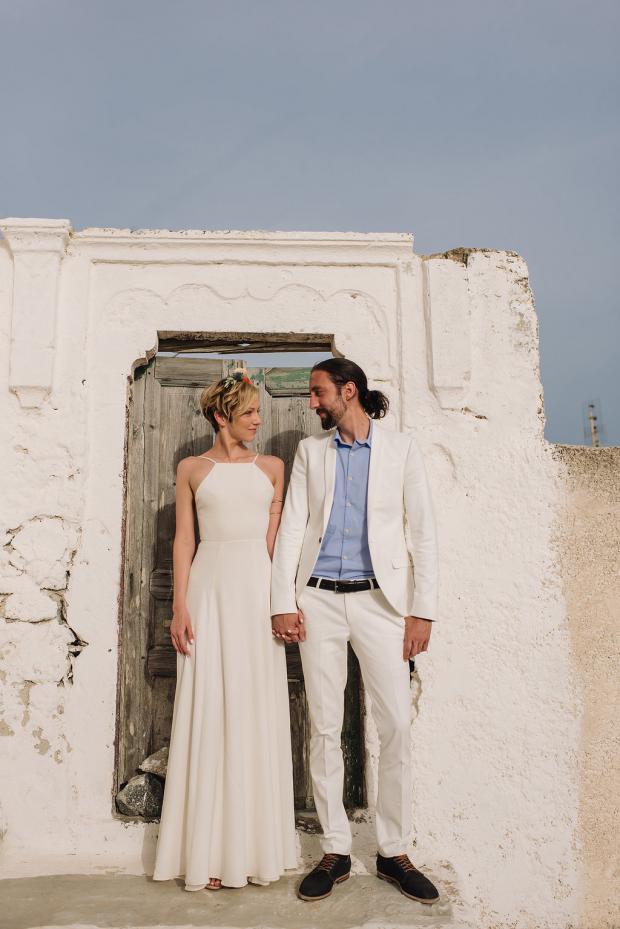 Modern Santorini wedding
