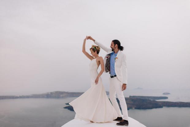 First dance in Santorini
