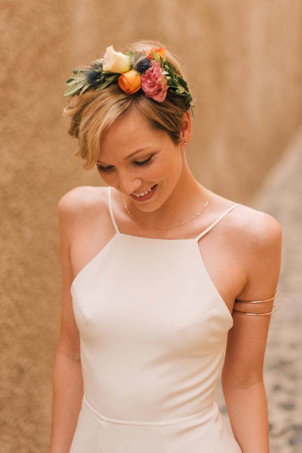 Bohemian bride- Pixie hairstyle