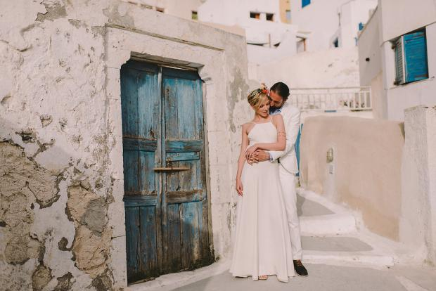 Bohemian wedding in Greece