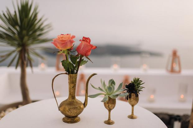 Bohemian wedding details- succulents