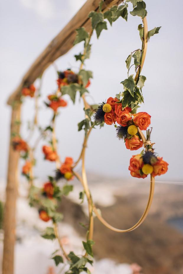 Wedding design - hanging hoops