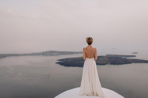 Santorini modern wedding