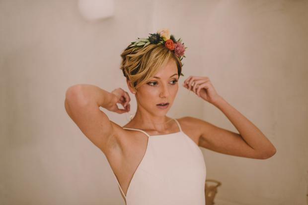 Pixie bridal hairstyle