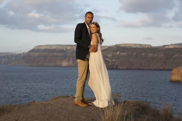 Boho wedding in Santorini
