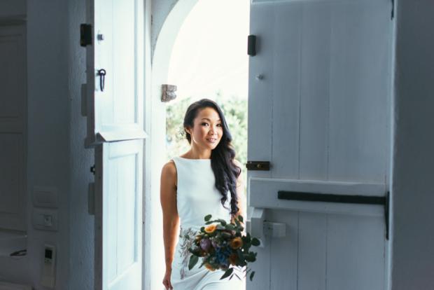 Santorini bride