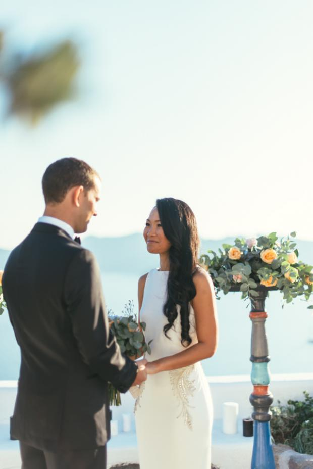Greek island wedding-Santorini elopement