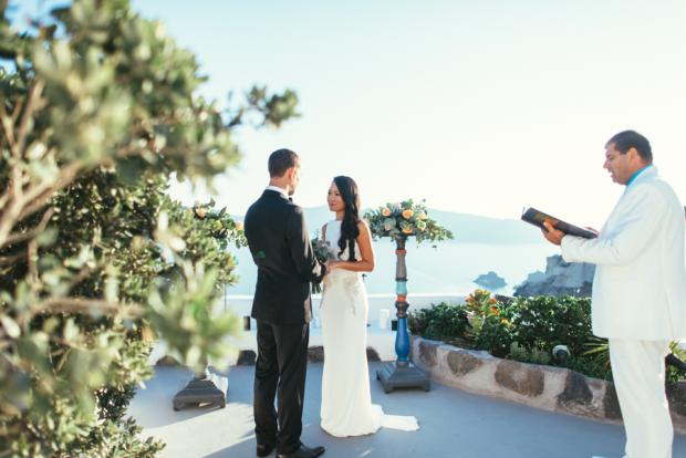 Wedding in Santorini-ceremony