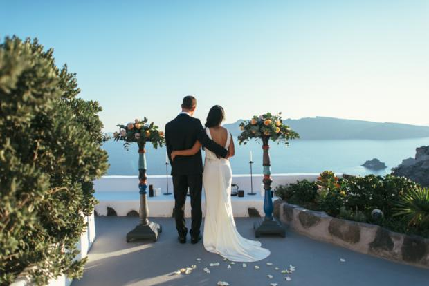 Greek island elopement- Santorini