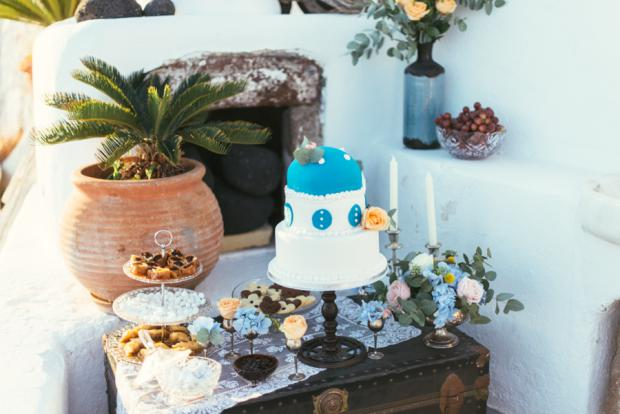 Dessert table- Santorini wedding