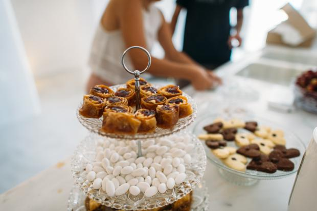 Dessert table-traditional Greek desserts