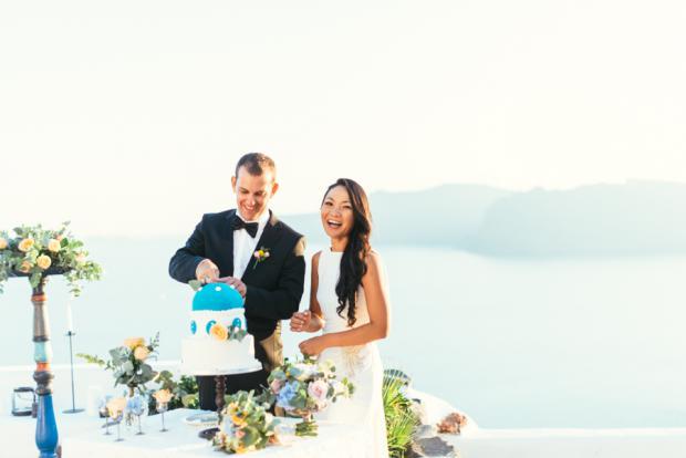 Santorini elopement