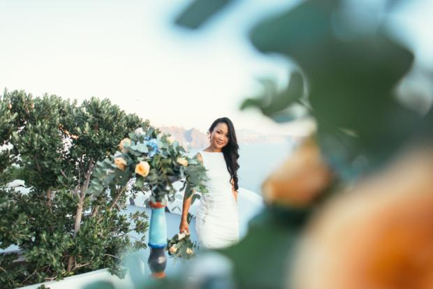 Greek island elopement-Santorini