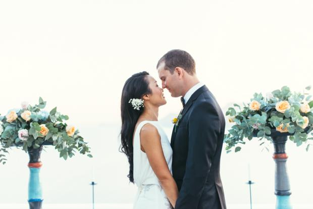 Elegant summer wedding in Santorini