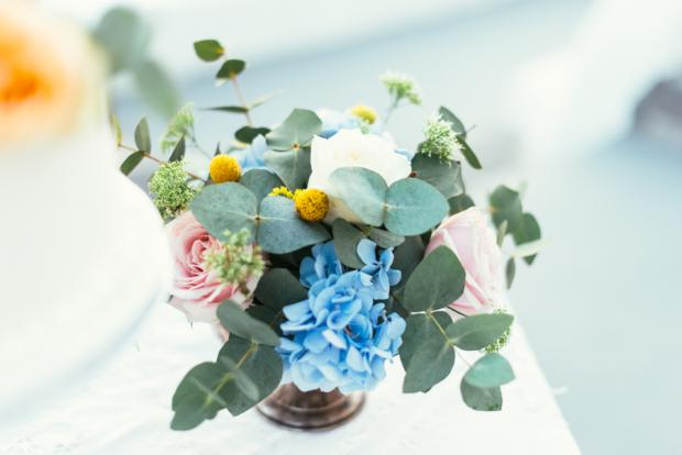 Santorini wedding- centerpiece