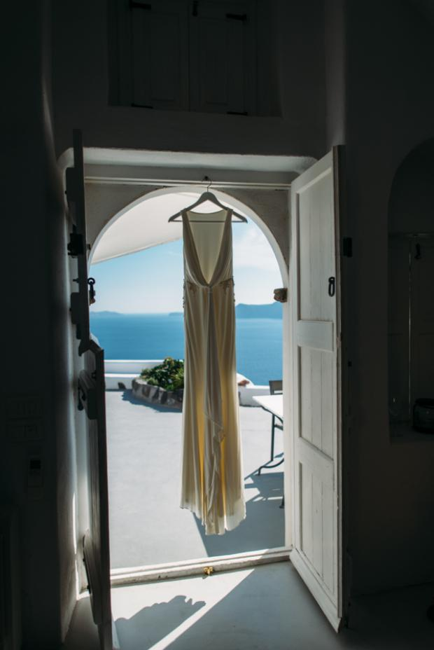 Wedding dress-Santorini wedding
