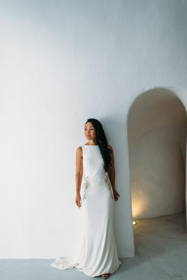 Wedding dress-Santorini bride
