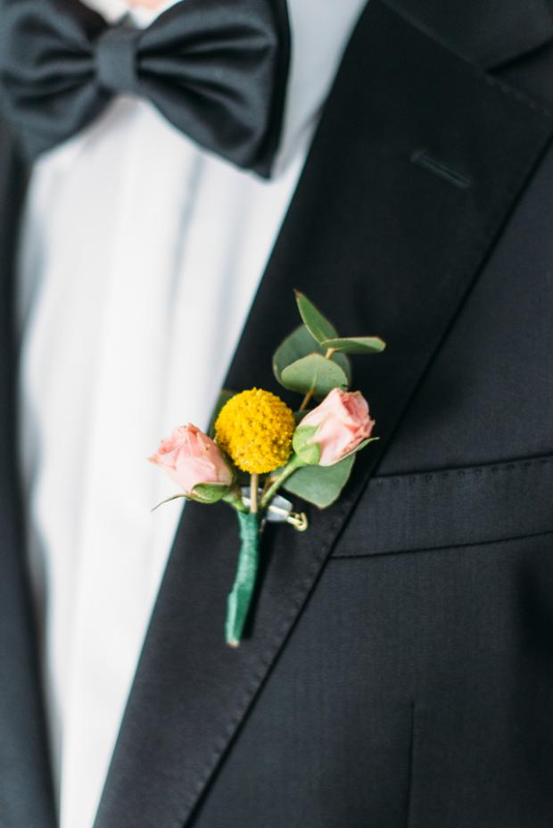 Boutonniere- Santorini wedding