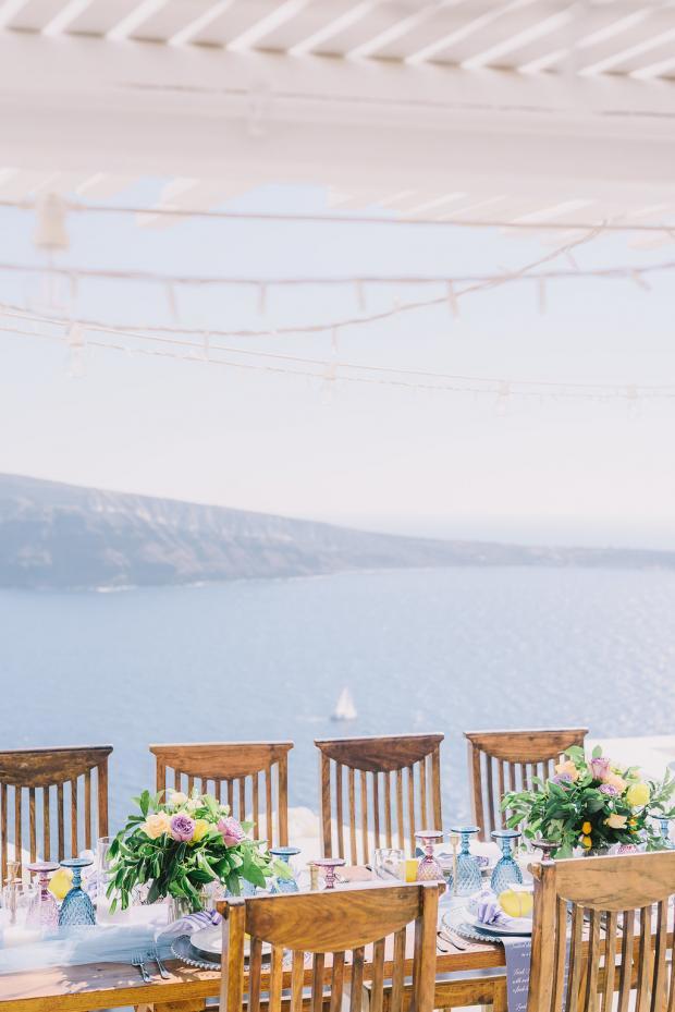 Greece wedding dinner
