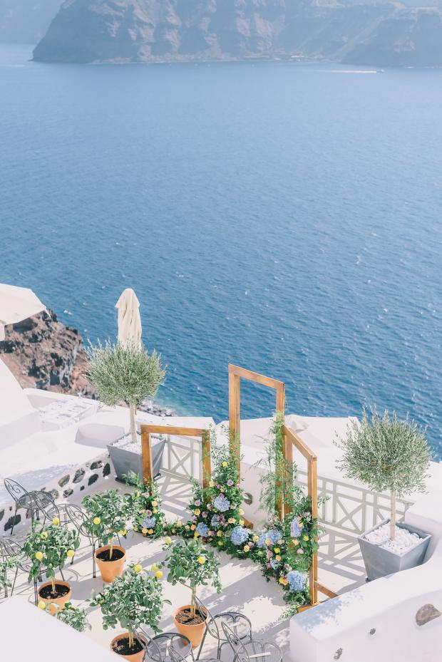 Mediterranean- lemon wedding in Greece