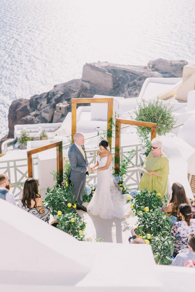 Mediterranean wedding ceremony
