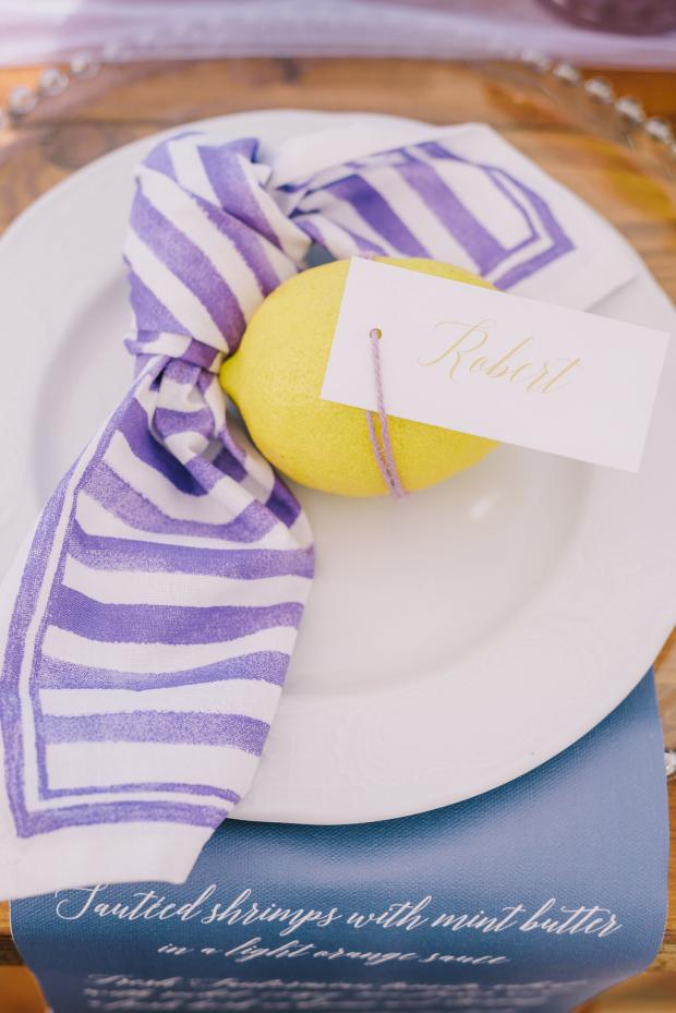 Lemon name tag- wedding dinner