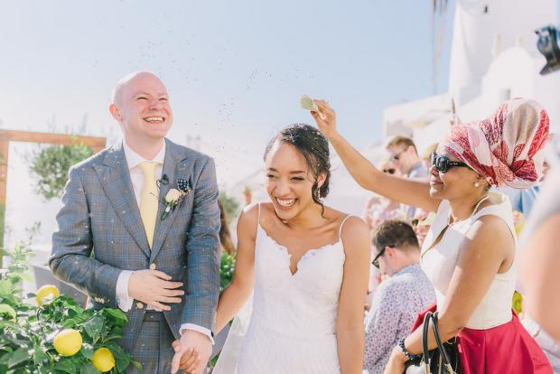 Mediterranean wedding ceremony