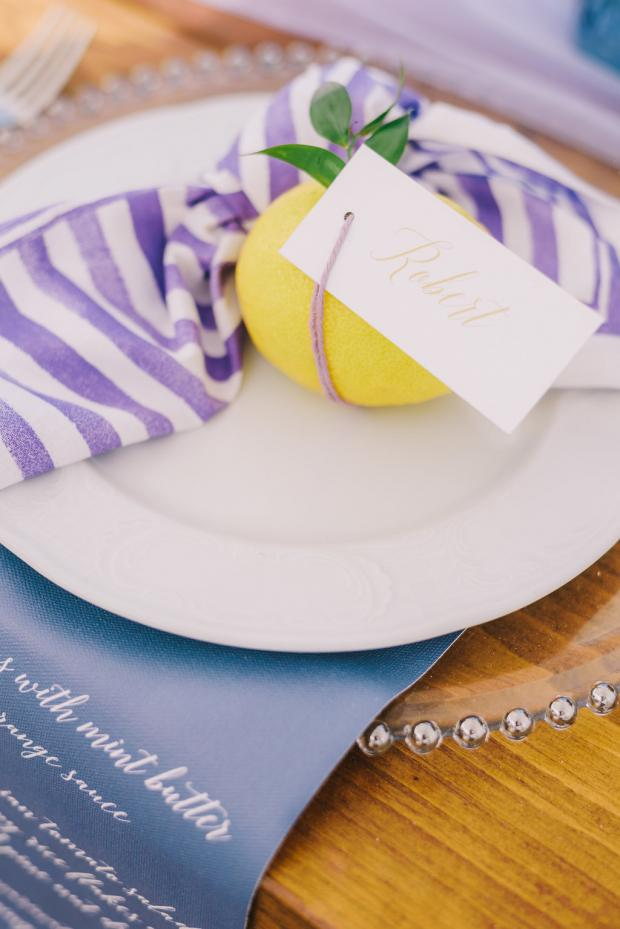 Lemon name tag- wedding dinner