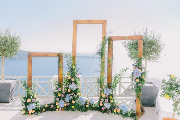 Frame wedding ceremony arch- Greece wedding