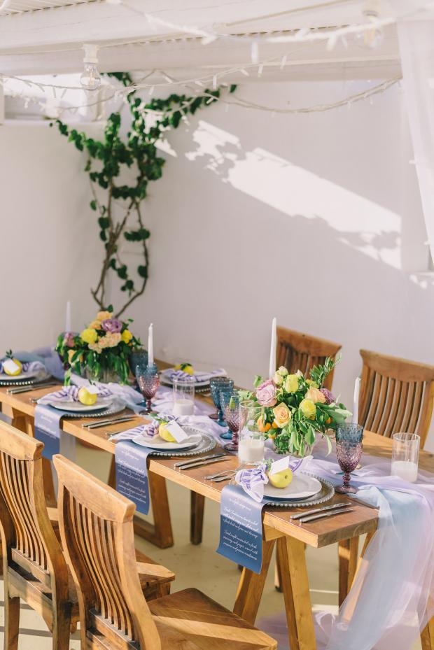Wedding tablescape- Mediterranean wedding