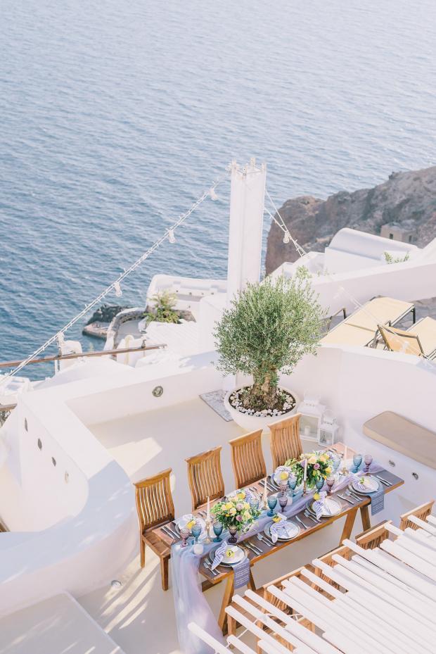 Wedding dinner in Greece
