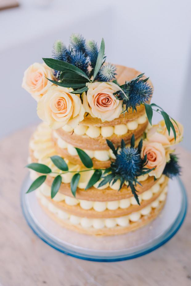Naked lemon cake - Mediterranean wedding